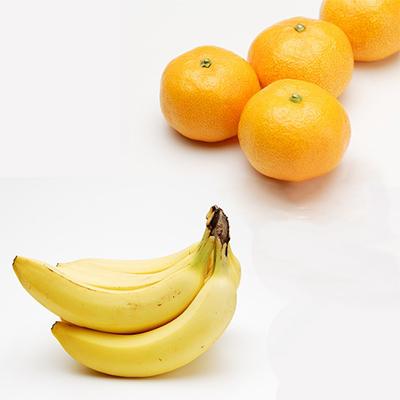 おいしいミカンとバナナの画像